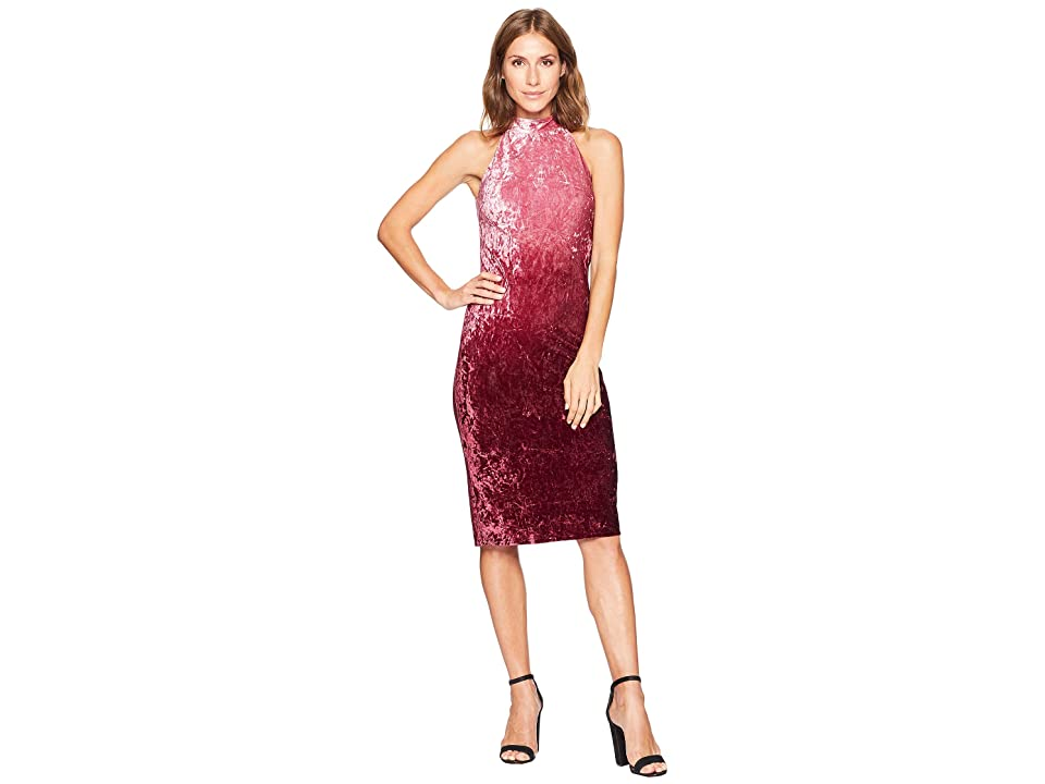 CeCe Hailey Sleeveless Ombre Velvet Dress (Deep Syrah) Women
