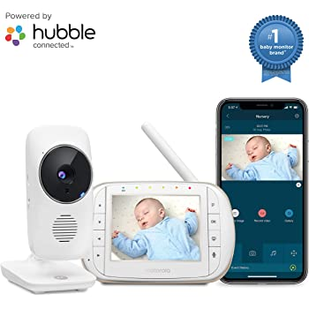 """C Motorola MBP845Connect Video Baby Monitor with Wi-Fi viewing 5/"""" Color Screen"""