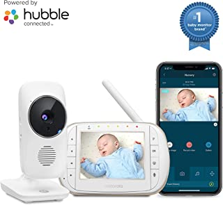 """Motorola Smart Video Baby, Elderly, Pet Monitor with Wi-Fi and 3.5"""" Color LCD Display Unit, Night Vision, Two-Way Audio, Room Temperature Display and 5 Lullabies, MBP668CONNECT"""