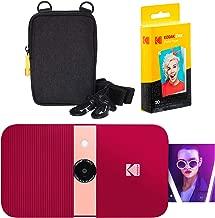 KODAK Smile Instant Print Digital Camera (Red) Soft Case Kit