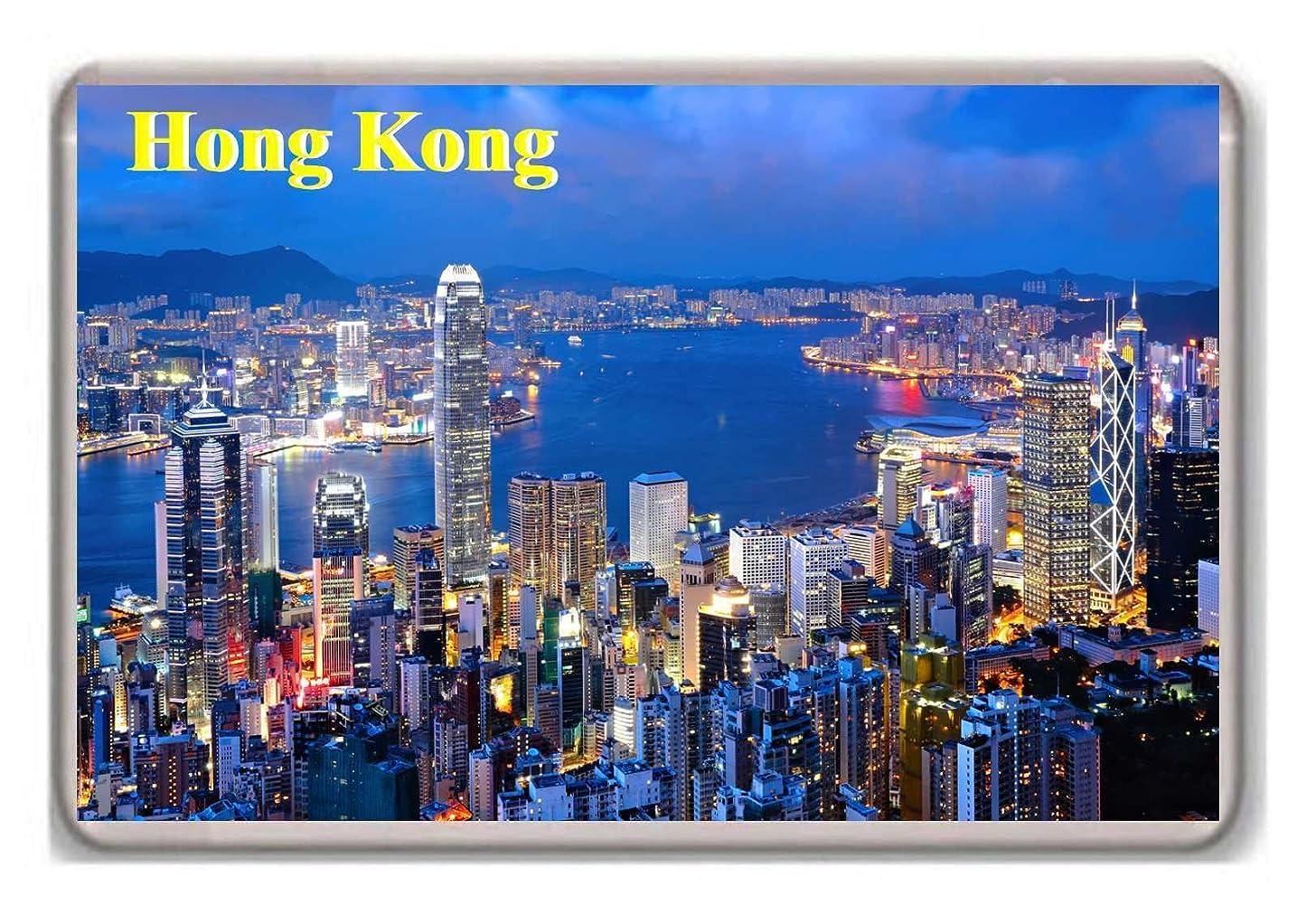 前提オート奪う香港の写真冷蔵庫用マグネット