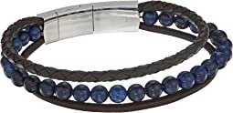 Fossil - Casual Multistrand Beaded and Leather Bracelet