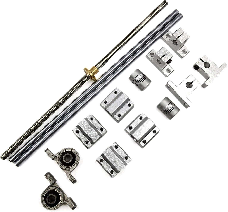 Mergorun Horizontal 8mm Year-end gift Lead Screw L300mm Max 60% OFF Optical Shaft AxisPi