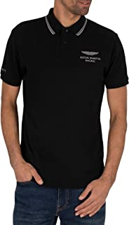 Hackett London Men's AMR Fine Tip Polo Shirt, Black