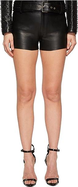 Garnet Leather Shorts