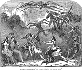 England Pantomime 1850 Nscene From The Pantomime La Tarantula Or The Spider King At The Adelphi Theatre In London Engravin...
