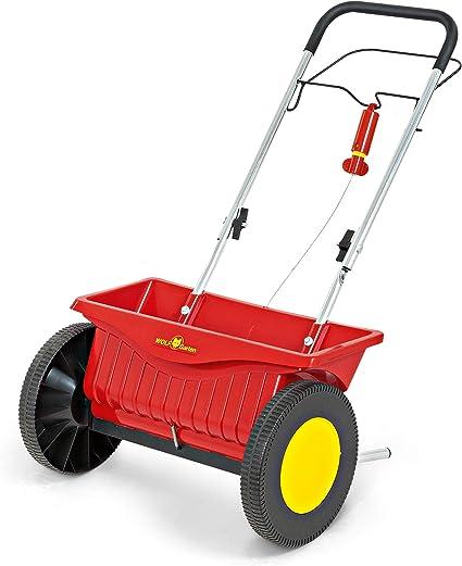 Teien Universal Streuwagen 12 Liter 108 cm lang und 45 cm Streubreite mit Einstellbarer Dosierung