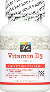 365 by Whole Foods Market, Supplements - Vitamins, D 500mcg/2000 IU (Softgels), 100 Count