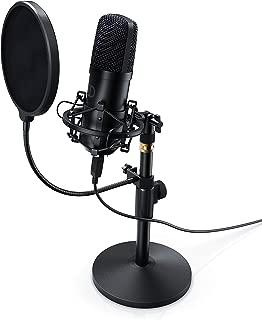 Per youtuber Custodia auna MIC-920B V4 Set Microfono USB Color Nero Filtro Anti-Pop Braccio Microfono Orientabile A Condensatore Staffa Ragno Registrazione podcast audio Plug /& Play
