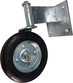 Swivel Wheel for Swinging Wood Gate. Galvanized Steel Guards Against Rusting. Product is Easy to Install