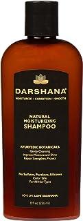 Darshana Natural Moisturizing Shampoo with Ayurvedic Botanicals - Color Safe, No Sulfates, Silicones, Parabens - Improve Moisture and Shine, pH Balanced (8 fl oz.)