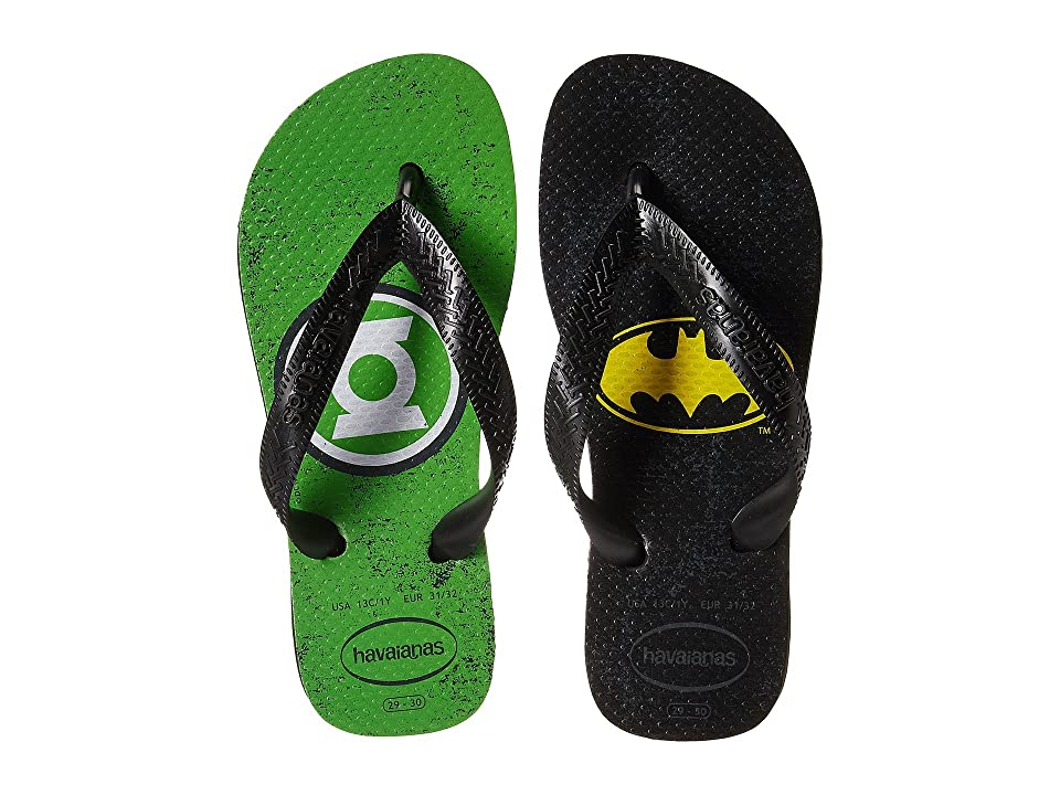 Havaianas Kids Heroes DC Flip-Flop (Toddler/Little Kid/Big Kid) (Black) Boys Shoes