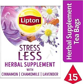 Lipton Herbal Supplement, Stress Less, 15 count