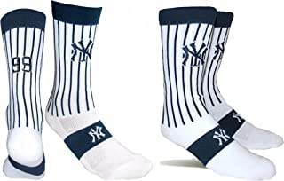 PKWY by Stance MLB Men's 2-Pack New York Yankees & Aaron Judge #99 Player Uniform Socks