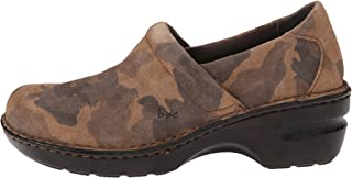 Born BOC Womens Peggy Tan Camo Suede Slip On Clog Mule (7.5 M US)