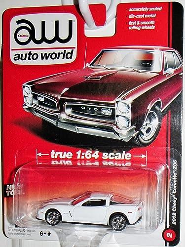 muchas concesiones AUTO AUTO AUTO WORLD 1 64 SCALE blanco 2012 CHEVY CORVETTE Z06 DIE-CAST by Auto World  tienda de venta