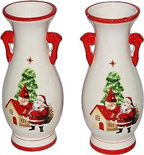 Jades : Christmas Theme Vase - Set of 2 (Design #1)