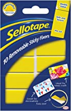 Sellotape Sticky Fixers Removable Double-Sided 20X50Mm 10 Pads Ref 1445286