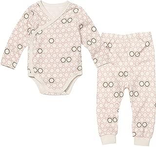 WithOrganic Kimono Infant Set | Includes Stylish 100% Organic Certified Bodysuit and Pants | for Boys and Girls