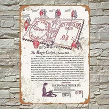 Ellis 1940 Pitney-Bowes Postage Meters Vintage Retro Metal Estaño Sign Decoración de Pared para Store Man Cave Bar Home Garage