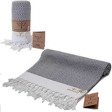 Anthracite Hair Bath and Farmhouse Face 16.5 X 37 Inches Tea Turkish Hand Towel Set of 2 100/% Cotton Dishcloth Kitchen Decorative Bathroom Peshtemal Towel for Hand Natural U