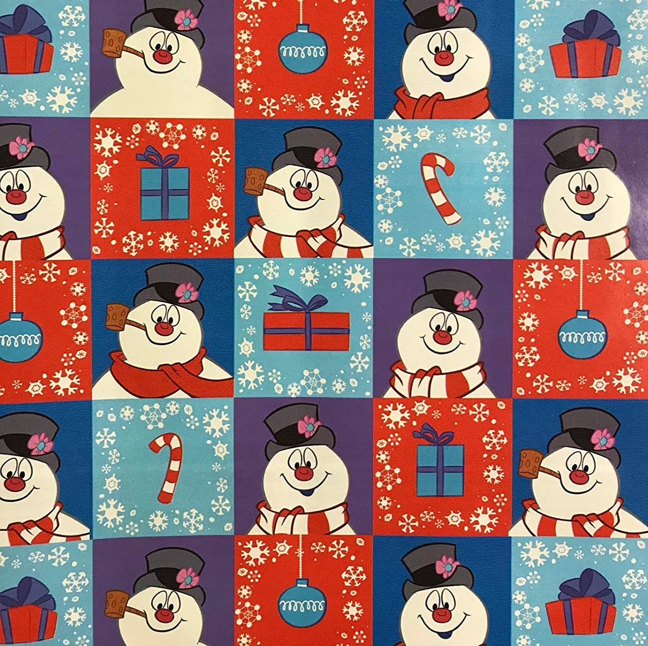 Frosty The Snowman Christmas Gift Wrap 60 Square Feet Roll