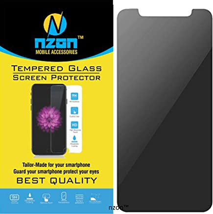 nzon iPhone X Tempered Glass, for iPhonex Screen Glass Protector, nzon Apple 10 [6D Tempered Glass] Anti-Scratch, Ultra-Clear Screen Protector Film for iPhone X (Privacy)