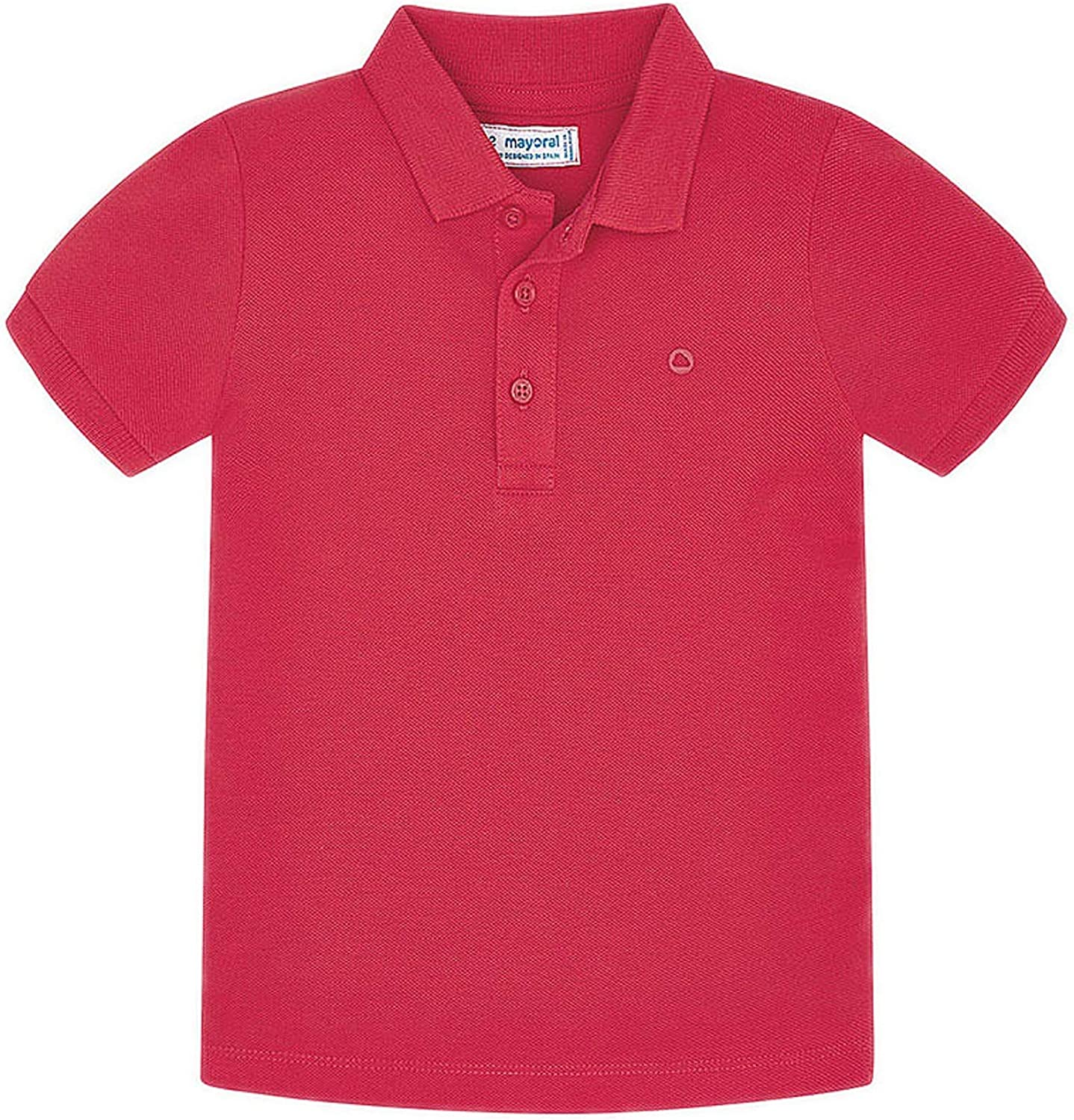 Mayoral - Basic s/s Polo for Boys - 0150, Hibiscus