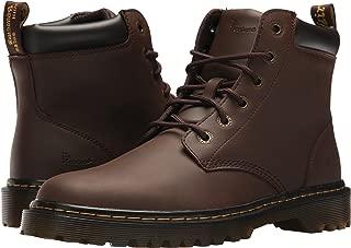 DR MARTENS Mens Cartor 6 Eye Boot, 13 D(M) US/12 F(M) UK, Dark Brown