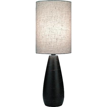 Lite Source Ls 2996 Quatro 17 1 2 Inch Mini Table Lamp With Linen Shade Brushed Dark Bronze Amazon Com