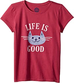 God Bless Meowica Crusher T-Shirt (Little Kids/Big Kids)