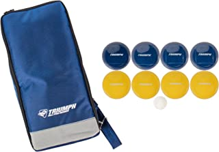 Triumph Premium 100mm Resin Bocce Ball Set - Includes 8 Bocce Balls, One 50mm Jack and Carry Case