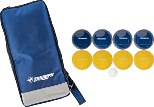 Triumph All Pro 100mm Bocce Set Includes Eight Bocce Balls, One 50mm Jack, and Carry Bag