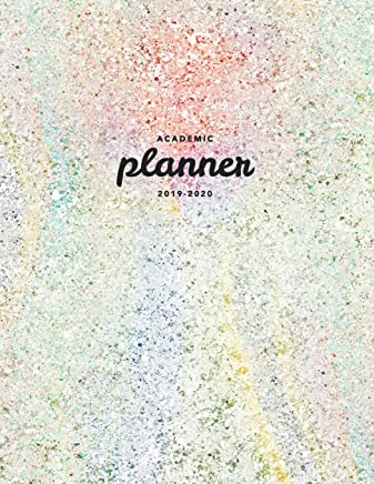 Academic Planner 2019-2020: Weekly & Monthly View Planner Achieve Your Goals & Increase Productivity Pink Pastel Iridescent Style