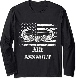 US Army Air Assault Badge Long Sleeve T Shirt