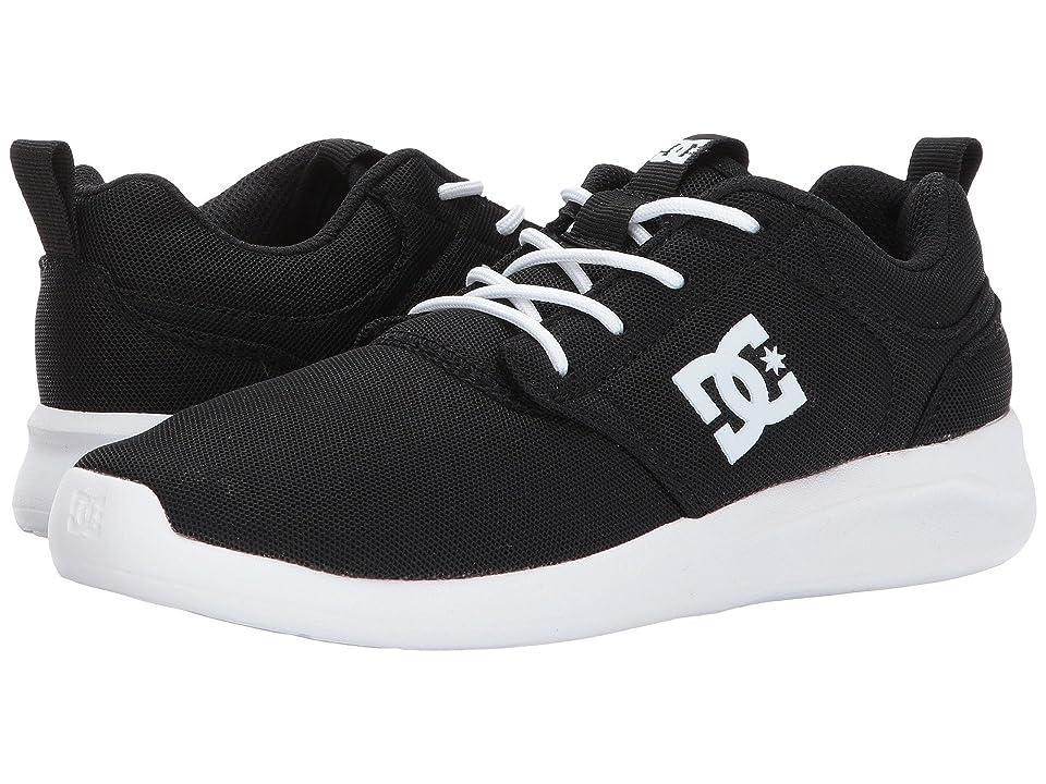 DC Kids Midway (Little Kid/Big Kid) (Black/White) Girls Shoes