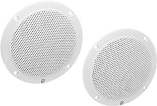 Poly-Planar MA-4055W 5-Inch Round Flush-Mount Marine Speakers, White (Pair)