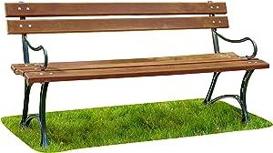 Krakwood Banc de Jardin en Bois avec Cadre en Bois en Fonte 50