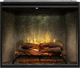 DIMPLEX RBF36PWC Revillusion 8794 BTU / 2575W 36 Inch Wide Built-in Vent-Free Electric Fireplace with Weathered Concrete Interior and Remote Control (Portrait Height Model)