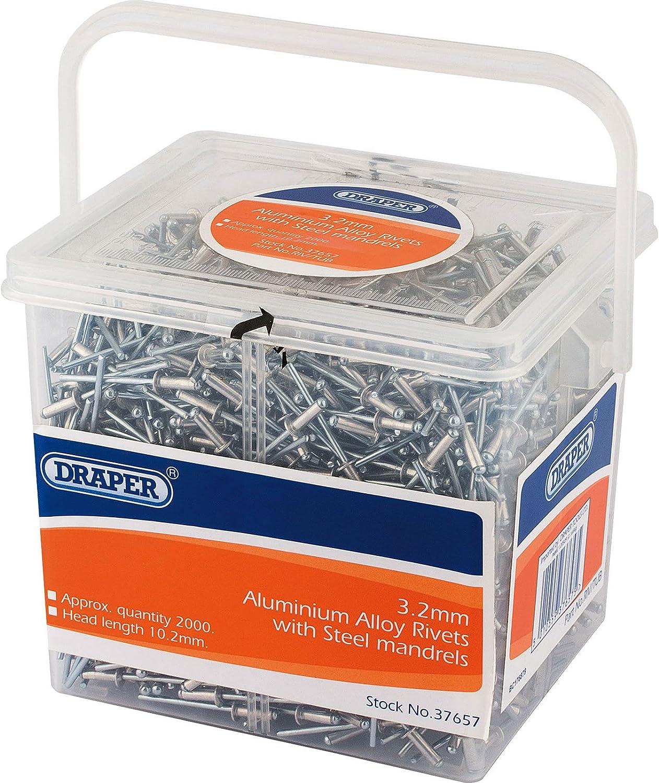 3.2mm /Ø Pack of 2000 Draper 37657 Blind Rivet