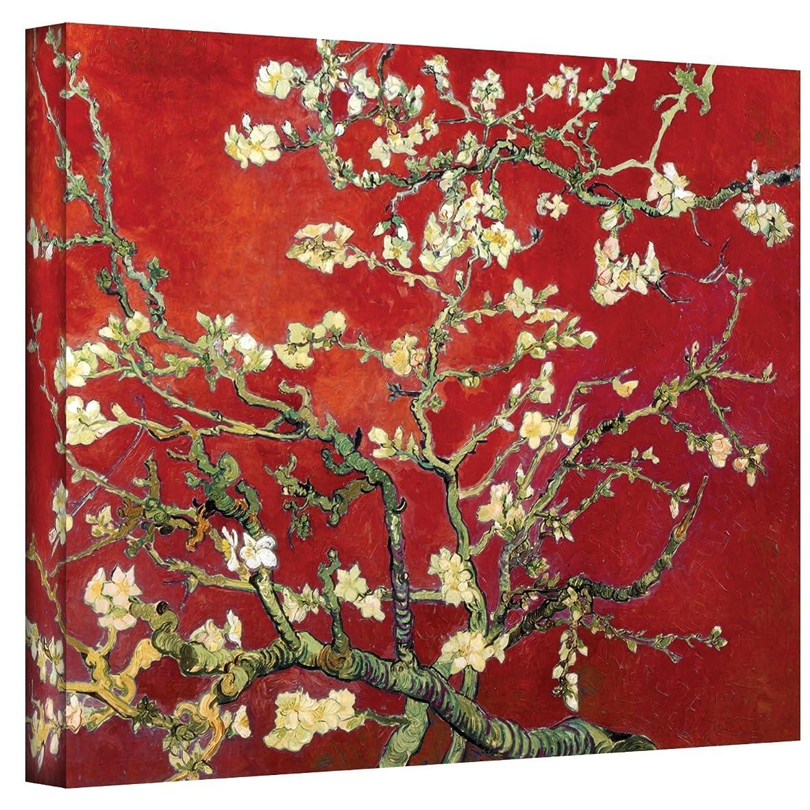 魅惑する受粉者クラフトヴィンセント?ヴァン?ゴッホ アモンド?ツリー アートウォール 赤の花咲くアーモンドの木 ギャラリー ラップキャンバスアート 18×24インチ