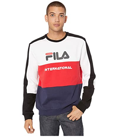 Fila Bravo Sweatshirt (White/Chinese Red/Peacoat) Men