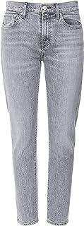 AGOLDE Women's Toni Mid Rise Straight Leg Jeans Gray