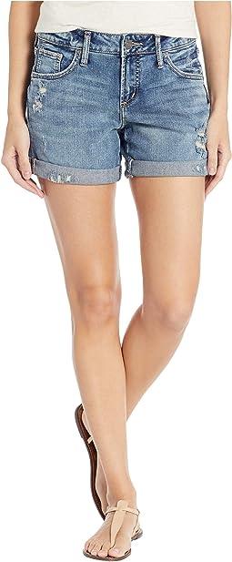 Boyfriend Mid-Rise Shorts in Indigo L53608SCP307