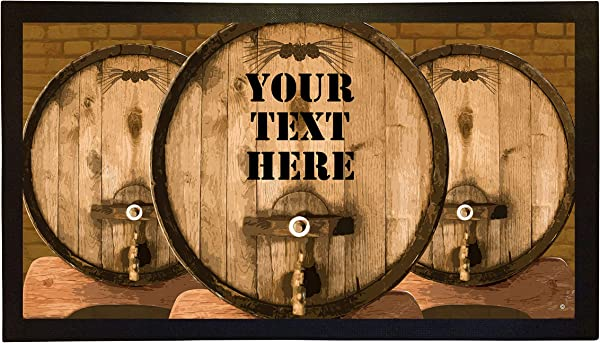Bang Tidy Clothing Bar Runner Whisky Barrel Drip Spill Mat Personalized Bar Gifts