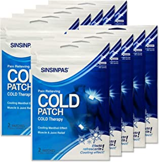 SINSINPAS Cold Patch, 10 Pack, (20 Patches Total)