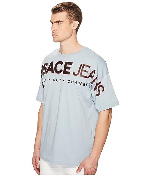 Jeans Exploded Camiseta Logo Celeste Versace pan8wHSO