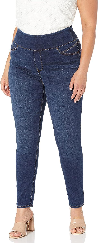 Seven7 Women's Plus Size Tummy Yoner Pull on Skinny Jean