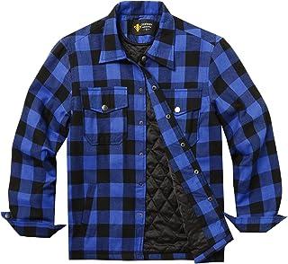 COOFANDY Koszula męska w kratkę, podszewka wewnętrzna, zima, koszula termiczna, kurtka zimowa