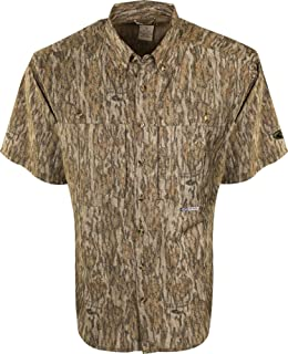 Men's Two-Tone Camo Flyweight Wingshooter's Shirt Short Sleeve Polyester